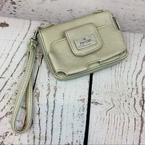Nicole Miller wallet gold with strap